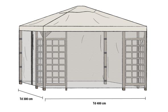 Brafab Etna tält grått 3x4 inkl 2 sid Grebbestad